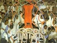 Tanz der Lamellen - Wandgemälde von Diego Rivera gemalt