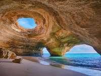 Portugal Küstenlandschaft Benagil Höhle Algarve - Portugal Küstenlandschaft Benagil Höhle Algarve