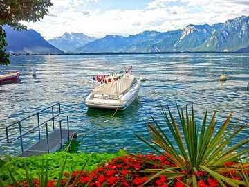 On Lake Geneva. - Landscape puzzle.
