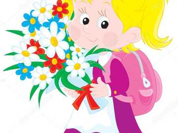 A beautiful little girl - The girl goes to kindergarten