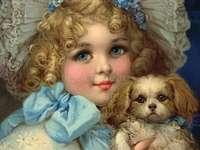 ೋ Portretul unei fete și al animalului său de companie ೋ ღ ೋ