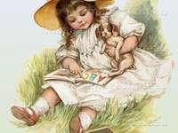 ೋ Retrato de uma menina e seu animal de estimação ೋ ღ ೋ