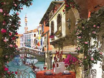 Venice in painting. - Puzzle: Venice in painting.
