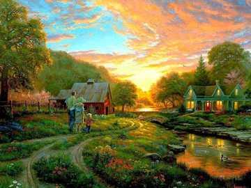 Painting. - Landscape painting.