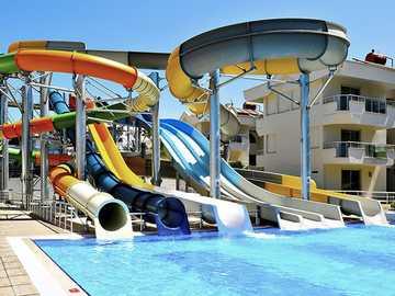 children's pool in a turkish hotel - m ...................