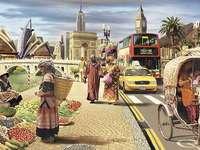 upptagen stadsliv
