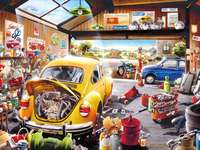 Auto repair shop - tinkering with cars workshop