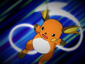 Raichu Battle - Pokemon Elektryczny Większa forma Pikachu