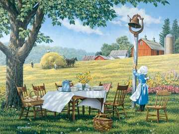 << In the countryside >> - Landscape puzzle.