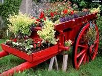 dekorace pro květiny na zahradě - m .........................