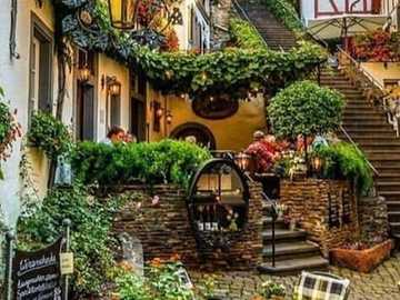 An outdoor cafe in Germany - An outdoor cafe in Germany