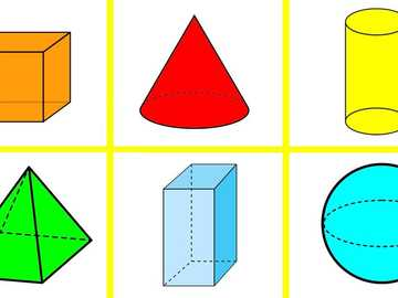 Diana geometric figures - Geometric bodies to describe their shape and color.