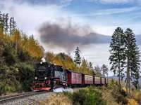 Na wakacje pociągiem. - Układanka krajobrazowa.