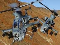 Cobra helikopter - Vliegende Cobra-helikopter