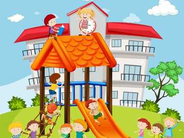 My kindergarten - Solve and describe the image