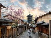Japonsko a jeho kouzlo - Žena s její kimono