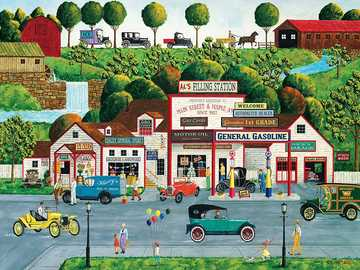 Town - Small town cars people