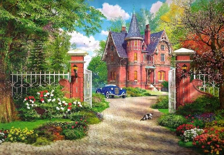 Ház a külvárosban - Táj puzzle (12×9)