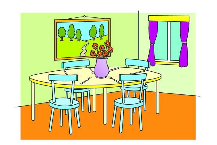 sala da pranzo per 3a elementare (6×4)