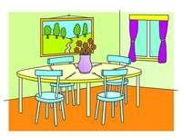 Esszimmer für die 3. Klasse
