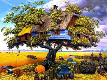 Fancy landscape. - Landscape puzzle.