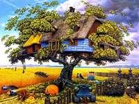 Díszes táj. - Mezőgazdasági táj. Táj puzzle. Rolniczy krajobraz.