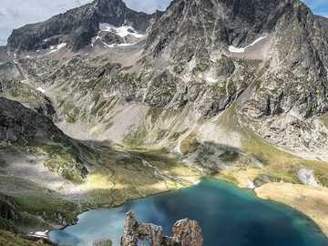 Lago Muzelle - Lac de la Muzelle, Parque Nacional Ecrins Alpes, Isere, França