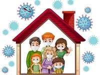 Mi familia - los miembros de la familia se protegen del COVID-19