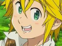 meliodas of sins - he is meliodas the captain of the 7 deadly sins and he is in love with elizabeth