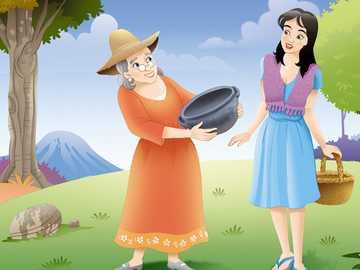 O pote mágico - o quebra-cabeça da história do pote mágico para crianças