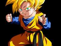 he is gothen - he is gothen the youngest son of goku and milk and of course gohan's younger brother