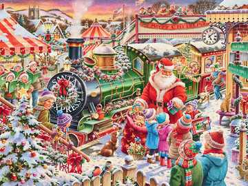 In Christmas land - In Christmas land with Santa Claus
