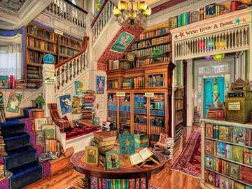 living room - Living room with lots of books