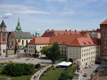 View of the Wawel Castle - Krakow city of kings -----