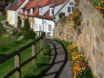 Sandsend, Yorkshire del Norte, Inglaterra - Sandsend, Yorkshire del Norte, Inglaterra