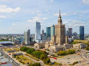 view of the palace of culture - m ...................