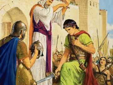 SAMUEL ANOINTING DAVID AS KING - BUILD THIS KING DAVID PUZZLE