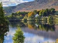 Loch Alvie Skócia Aviemore közelében