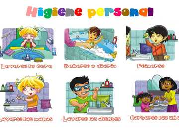 Personal hygiene - Put together the puzzle with hygiene habits