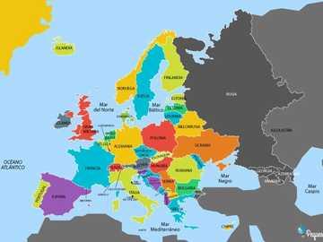 pays européens - Identifier la situation géographique des pays d'Europe