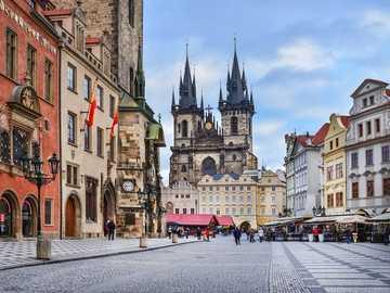 Czech Prague. - Landscape puzzle.