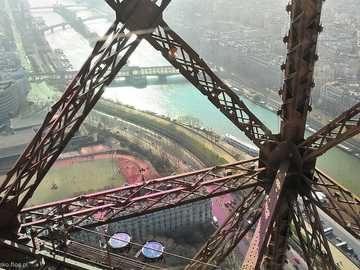 paris- view from the eiffel tower - m .....................