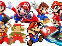 several photos of Mario