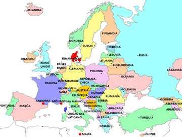 Carte de l'Europe - Assembler le puzzle du continent européen