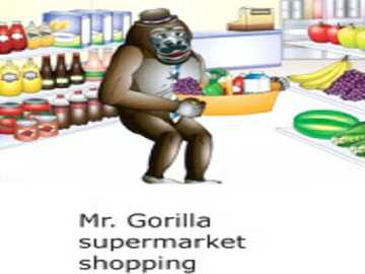 Sig. shopping al supermercato gorilla - lmnopqrstuvwxyzlmnop