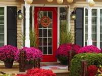 fleurs devant une maison en italie - m ....................