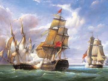 Art. Image. - Painting: sailing ships.