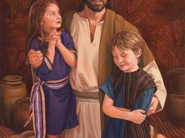 Lord Jesus and children 2 - The Lord Jesus blesses children. Prayer with children.