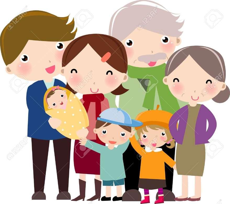 FÖRÄLDRARNA FAMILJEN - FAMILJEN OCH STORFÖRÄLDRARNA. MORFÖRÄLDRAR OCH FÖRÄLDRAR. MORFÖRÄLDRARNA OCH HELA FAMILJEN (7×7)