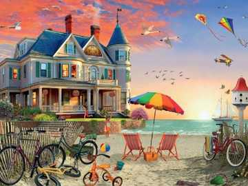 By the sea. - Landscape puzzle.